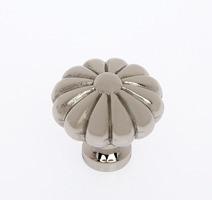 "JVJ 35116 Polished Nickel 35 mm (1 3/8"")  Pumpkin Door Knob"
