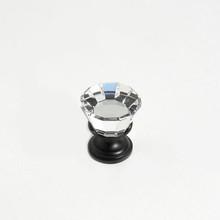 "JVJ 34320 Oil Rubbed Bronze 22 mm (7/8"") Flat Top 31% Leaded Crystal Door Knob"