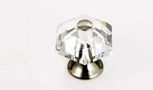 "JVJ 34214 Polished Nickel 30 mm (1 3/16"") 6 Sided 31% Leaded Crystal Door Knob"