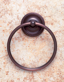 JVJ 24706 Roped Series Old World Bronze Towel Ring