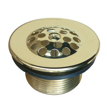 Kingston Brass DTL202 Tub Drain Strainer & Grid - Polished Brass