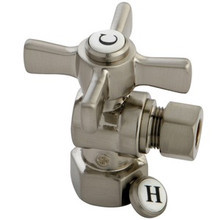 "Kingston Brass CC43108ZX 1/2"" Fip X 3/8"" Od Compression Angle Valve - Satin Nickel"