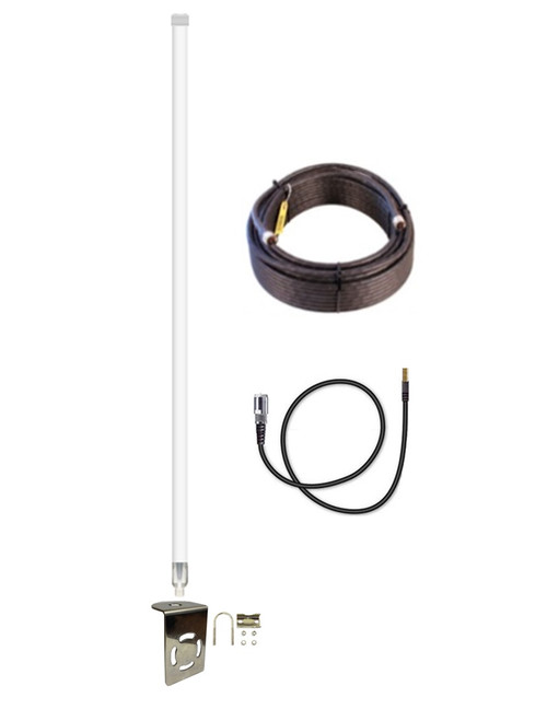 12dB Fiberglass 4G LTE XLTE Antenna Kit For AT&T Beam NETGEAR AC340U w/ Cable Length Options