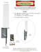 9dBi Sierra Wireless GX450 Gateway M16 Omni Directional MIMO Cellular 4G LTE AWS XLTE M2M IoT Antenna w/1ft Coax Cables -2  x NF