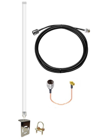 12dBi Accelerated 6335-MX Router Omni Directional Fiberglass 4G LTE XLTE Antenna Kit w/25ft Coax Cable