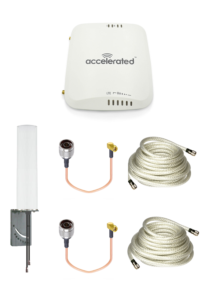 Accelerated 6310-DX LTE Router CAT 4 w//13 SMA Male XHD 8dBi Military Grade 3G 4G LTE Magnetic Mount Antenna