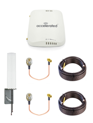 Accelerated 6310-DX LTE Router CAT 4 w/ 9dBi MIMO Antenna, 2 x 75 FT Cables + 2 x Adapters - SMA Male