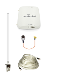 Accelerated 6310-DX LTE Router CAT 4 w/ 12dBi LTE Antenna, 25 FT Cable + Adapter - SMA Male