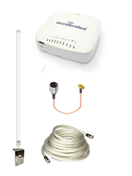 Accelerated 6335-MX LTE Router CAT 3 w/ 12dBi LTE Antenna, 25 FT Cable + Adapter - SMA Male