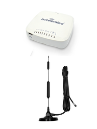 """ccelerated 6335-MX LTE Router CAT 3 w/ 13""""- XHD 8dBi Military Grade 3G 4G LTE Magnetic Mount Antenna - SMA Male"""