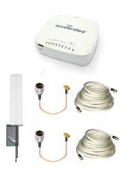 Accelerated 6335-MX LTE Router CAT 6 w/ 9dBi MIMO Antenna, 2 x 25 FT Cables + 2 x Adapters - SMA Male