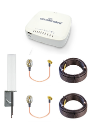 Accelerated 6335-MX LTE Router CAT 6 w/ 9dBi MIMO Antenna, 2 x 75 FT Cables + 2 x Adapters - SMA Male