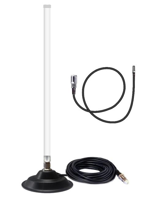 12dB Fiberglass 4G LTE Mag Mount Antenna For AT&T ZTE Velocity 2 MF985 Mobile Hotspot