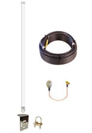 12dBi DIGI Transport WR44 Router Omni Directional Fiberglass 4G LTE XLTE Antenna Kit w/ Cable Length Options