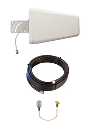 10dBi Yagi DIGI Transport WR44 Router Directional Log Periodic Wide Band 3G 4G LTE AWS XLTE Antenna Kit w/ Cable Length Options