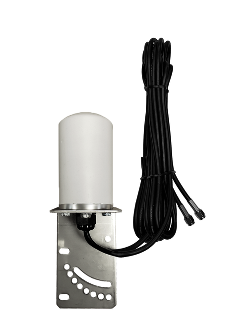 7dBi Cradlepoint AER2200 Router M16 Omni Directional MIMO Cellular 4G LTE AWS XLTE M2M IoT Antenna w/16ft Coax Cables -2  x SMA