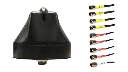 M690 9-Lead Multi MIMO 4 x Cellular LTE / GPS GNSS / Multi MIMO 4 x WiFi Bolt Mount M2M IoT Antenna