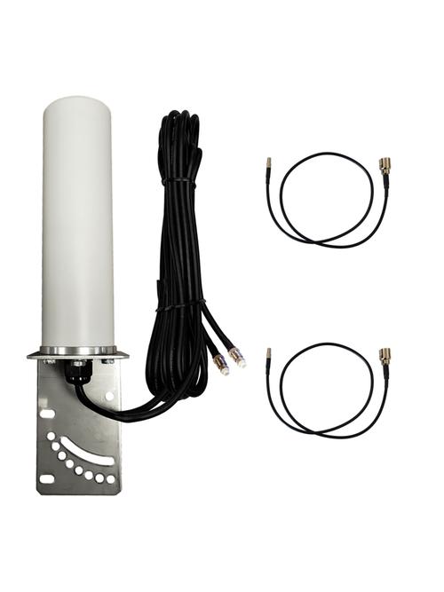9dBi Verizon Novatel Jetpack MiFi 7730L Hotspot Omni Directional MIMO Dual Cellular 4G 5G LTE Antenna w/2 x 16 FT Coax Cables.