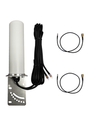 9dBi Netgear IB1120 Hotspot Omni Directional MIMO Dual Cellular 4G 5G LTE Antenna w/2 x 16 FT Coax Cables.