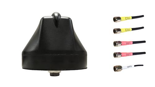 Sierra Wireless RV55 Router M600 5-Lead MIMO LTE, GPS / GLONASS, WiFi Bolt Mount M2M IoT Antenna