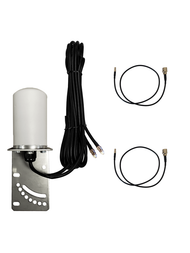 7dBi Verizon Jetpack MiFi 8800L Hotspot Omni Directional MIMO Dual Cellular 4G 5G LTE Antenna w/2 x 16 FT Coax Cables.