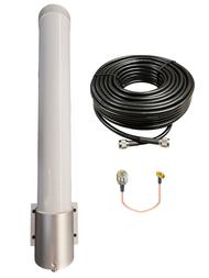 M25T T-Mobile Omni Directional Fiberglass Cellular 4G 5G LTE Band 71 External Data M2M IoT Antenna - NF - Kit