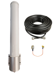 Peplink Balance-20X - M25T T-Mobile Omni Directional Fiberglass Cellular 4G 5G LTE Band 71 External Data M2M IoT Antenna - NF - Kit