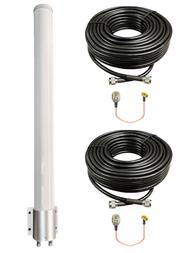Peplink BR1-Classic - M39T MIMO Omni Directional Fiberglass Cellular 3G 4G 5G LTE Band 71 External Data M2M IoT Antenna - 2x NF - Kit