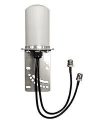 Peplink BR1-Classic - M17 Omni Directional MIMO Cellular 4G 5G LTE AWS XLTE M2M IoT Antenna w/1FT N-Female Coax Cables. Add-On Extension Cables Available!