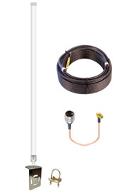 Peplink BR1-Classic - 12dBi Omni Directional Fiberglass 4G 5G LTE XLTE Antenna Kit w/ Cable Length Options