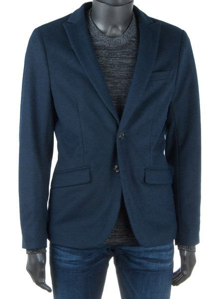 Night Blue Melange Blazer