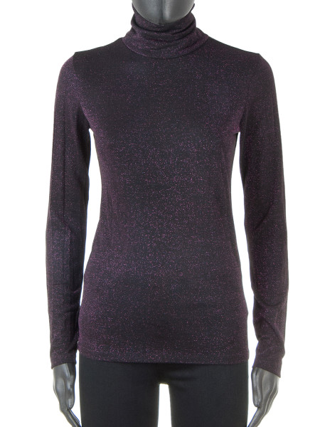 Lurex Turtle Neck Top