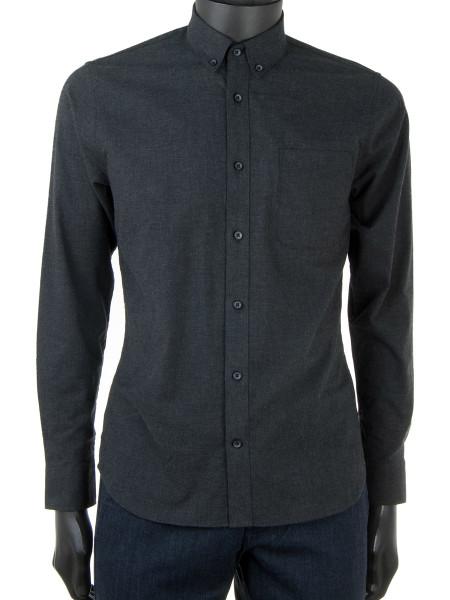 Ultrasoft Dark Grey Flannel Shirt