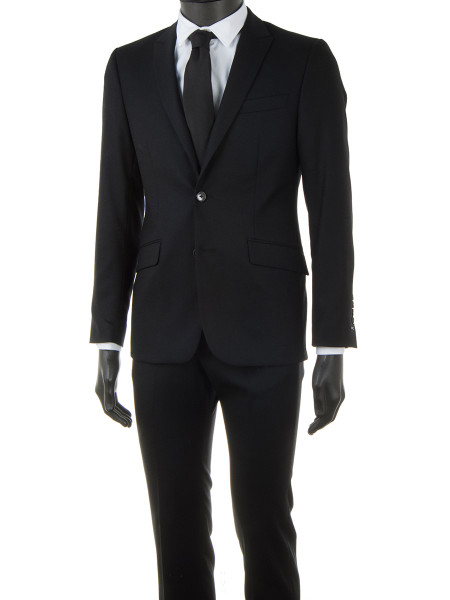 Black Light Wool Spring Suit
