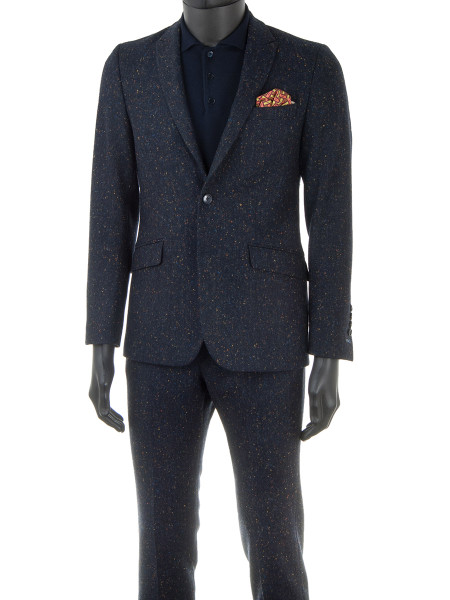 Navy Fleck Wool Spring Suit