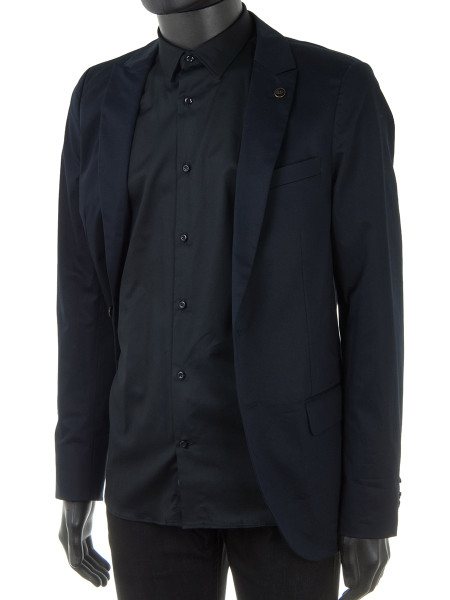 Black Summer Cotton Dress Shirt