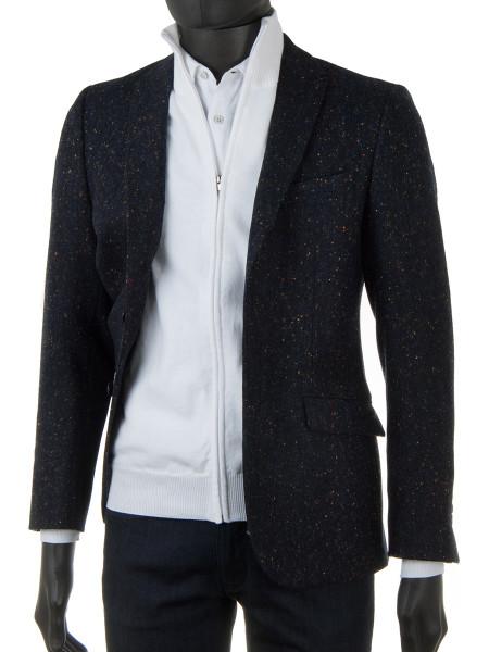 306adaf8bba250 White High Neck Zip Through Cotton Cardigan