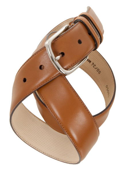 Classic Camel Leather Belt