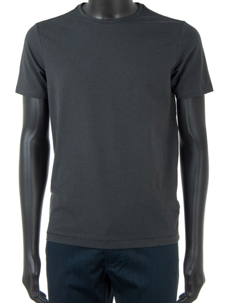 Charcoal Cotton Blend T-Shirt