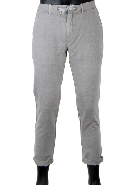 Pearl Grey Cotton Linen Trousers