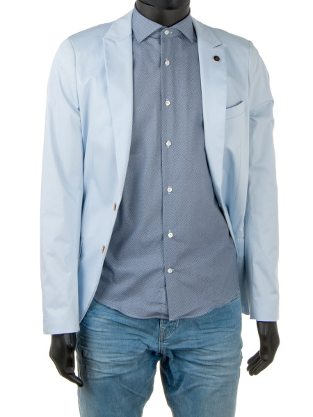 Light Blue Micro Patterned Shirt
