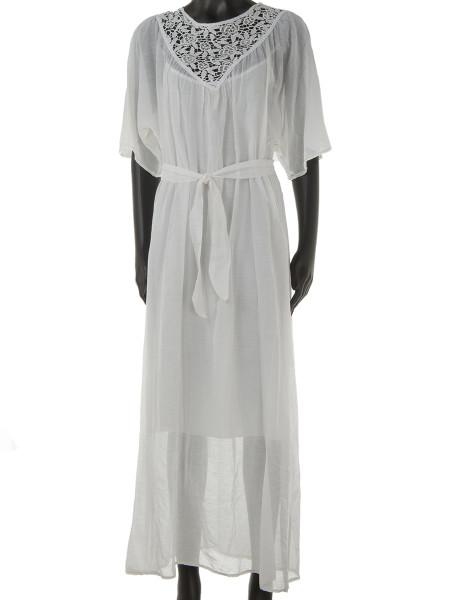 Ecru Maxi Kaftan Dress