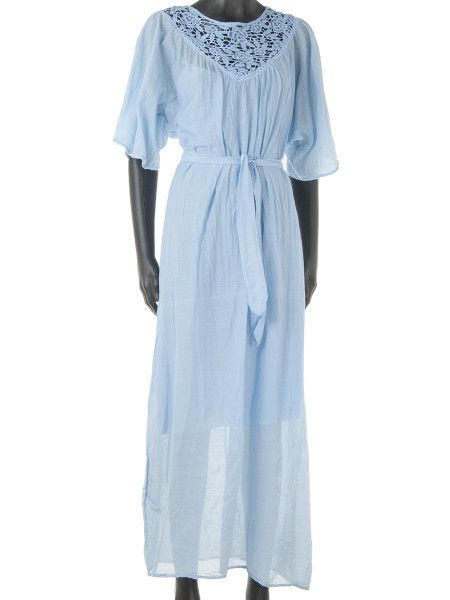 Light Blue Maxi Kaftan Dress