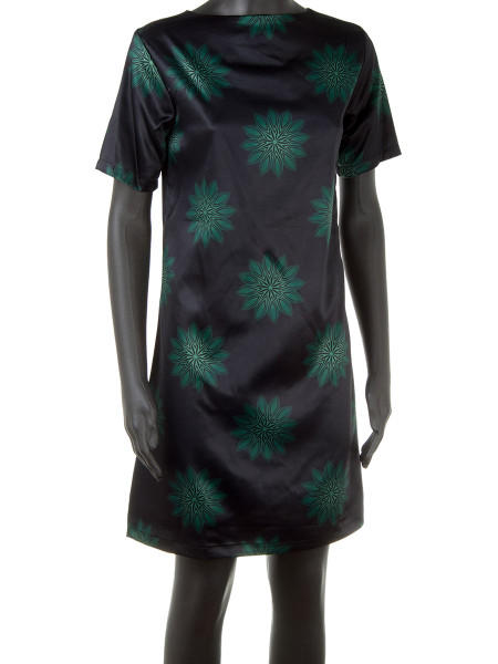 Short Patterned Satin Dress