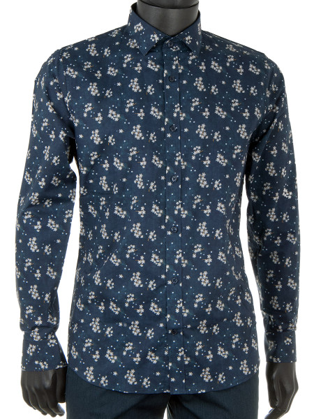 Printed Navy Shirt