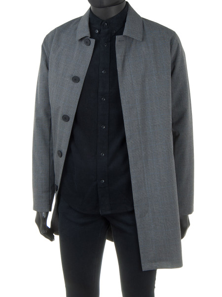 Prince of Wales Check Midgrey Mac