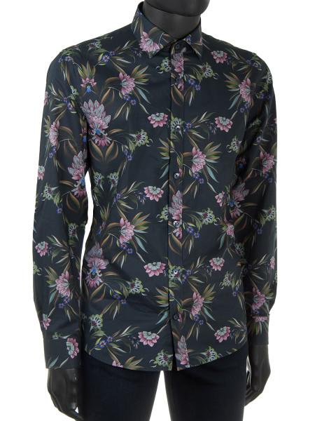 Large Flower Print Shirt
