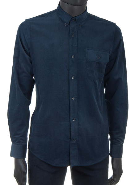 Dark Navy Corduroy Shirt