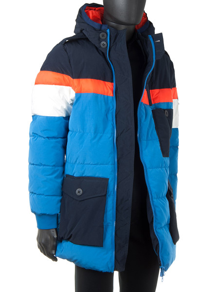 Long Down Jacket Multicoloured