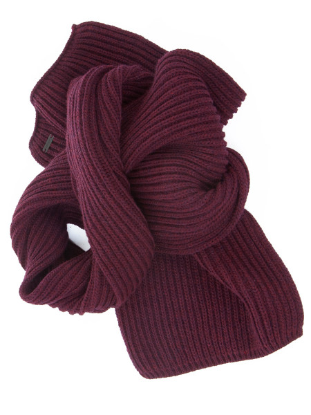 Bordeaux Chunky Ribbed Scarf